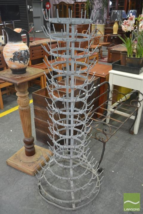 Old French Metal Bottle Drier