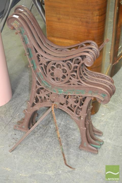 Two Pairs of Wrought Iron Bench Ends