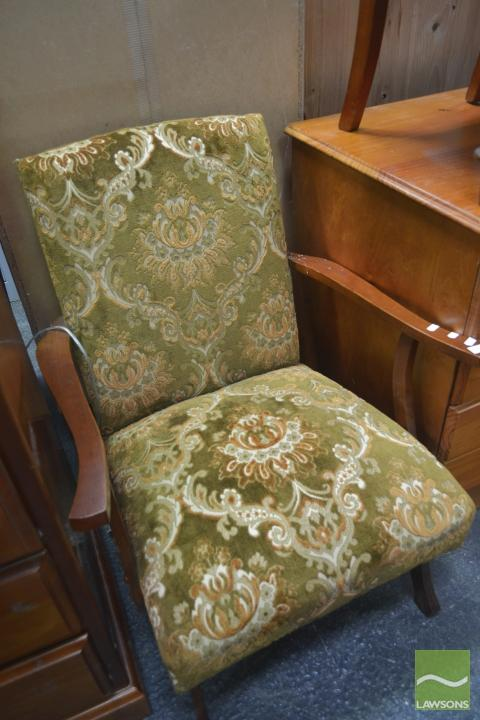 Timber Framed Upholstered Armchair