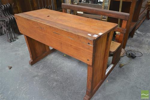 Vintage Lift Top School Desk
