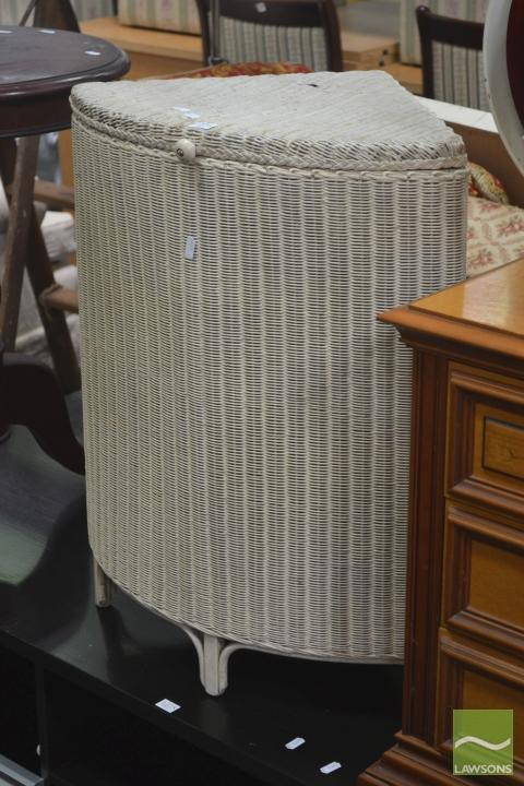 Laundry Basket, Possibly Lloyd Loom