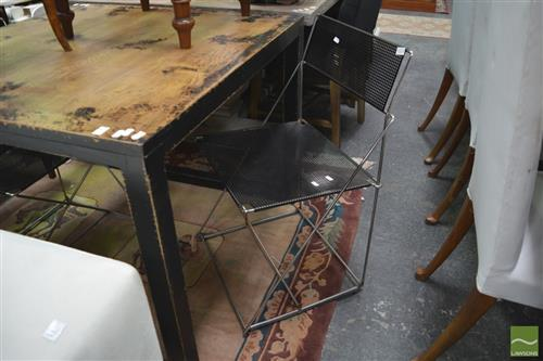 Pair of Metal Framed Chairs