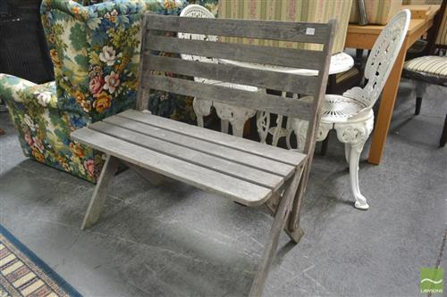 Timber Two Seater Outdoor Bench