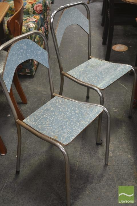Pair of Metal Framed Kitchen Chairs