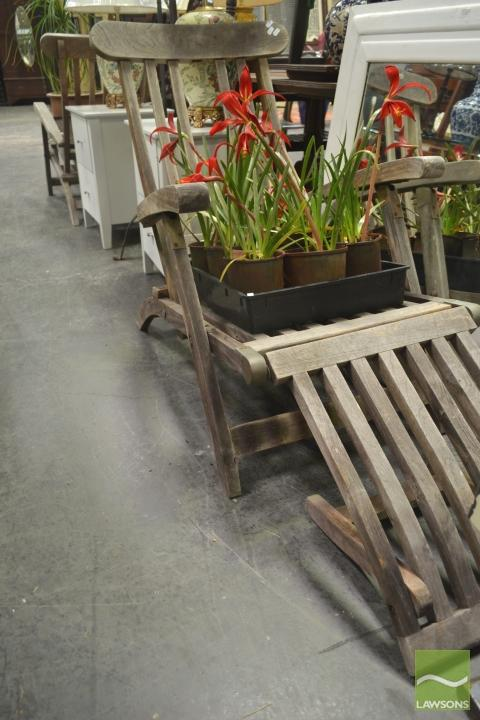 Pair of Timber Folding Deck Chairs
