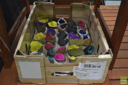 Box Split African Colourful Geodes