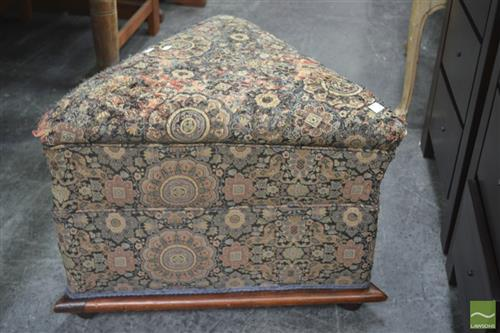 Victorian Triangular Ottoman (upholstery damaged)