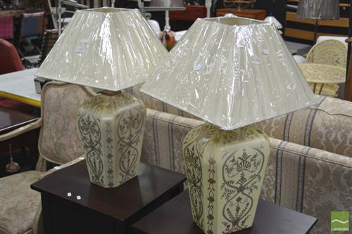 Pair of Italian Antique Style Lamps (3245)