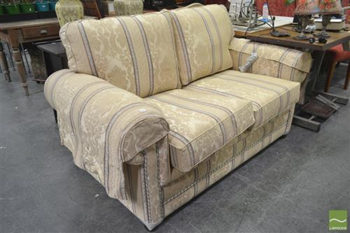 Fabric Two Seater Lounge with Regency Upholstery