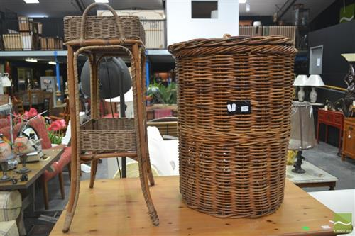 Laundry Basket & Tiered Basket Form Stand