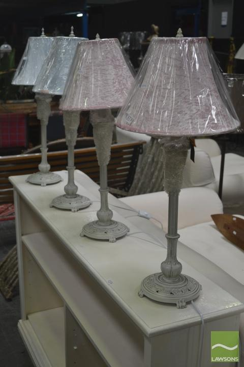 Set of Four Table Lamps with Shade