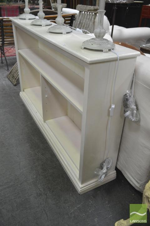 White Painted Timber Open Book Shelf