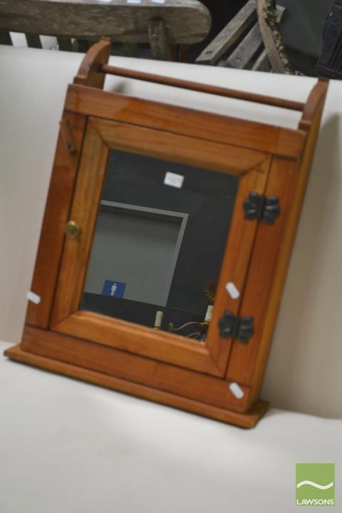 Timber Wall Mount Mirror Cabinet