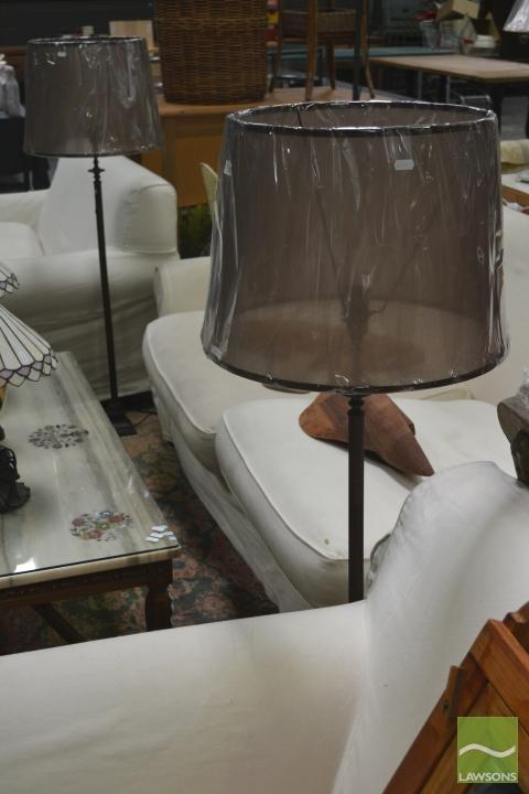 Pair of Metal Standard Lamps (5789)