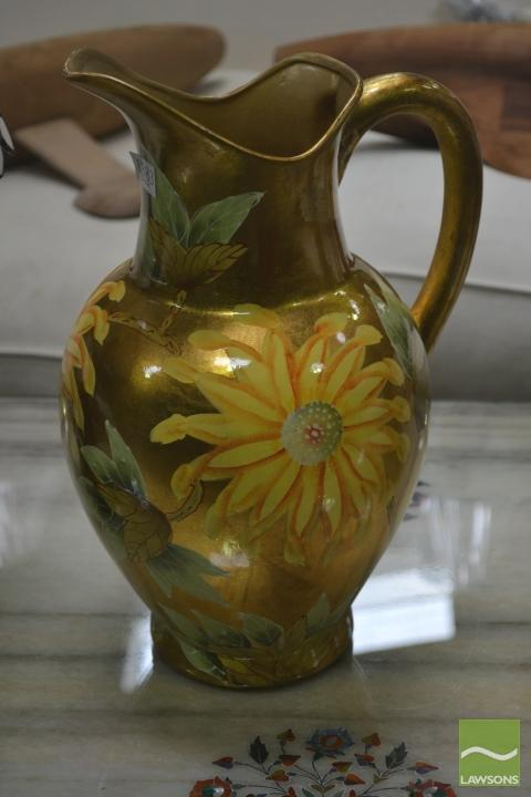 Floral Jug in Gold, Italy (3824)