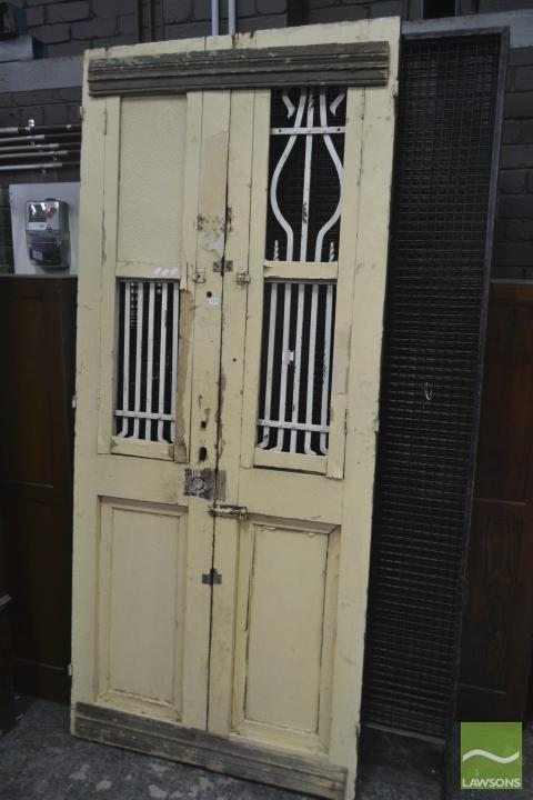 Cream Painted Timber Door with Iron Inserts