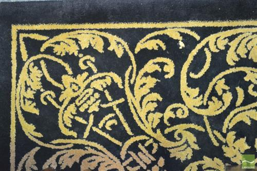 Pierre Cardin Woolen Floor Rug in Black with Gold Detail (170 x 250cm)