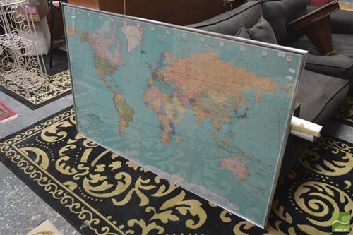 Bartholomew Framed World Map
