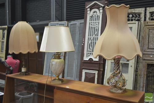 Collection of Three Various Table Lamps
