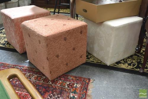 Collection of Upholstered Footstools