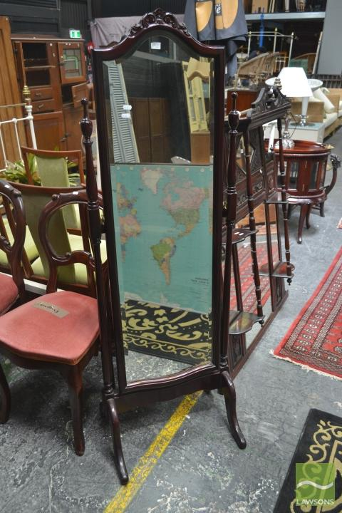 Bevelled Edge Cheval Mirror