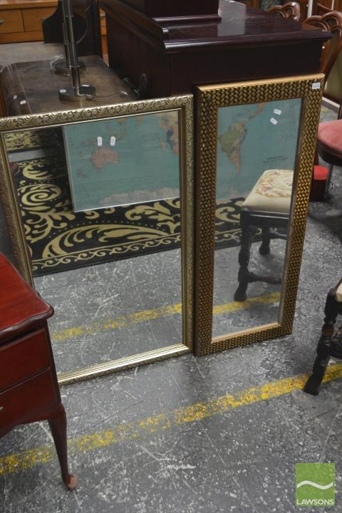 Two Gilt Framed Mirrors