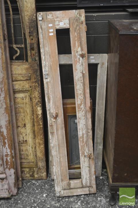 Three Varied Rustic Timber Windows