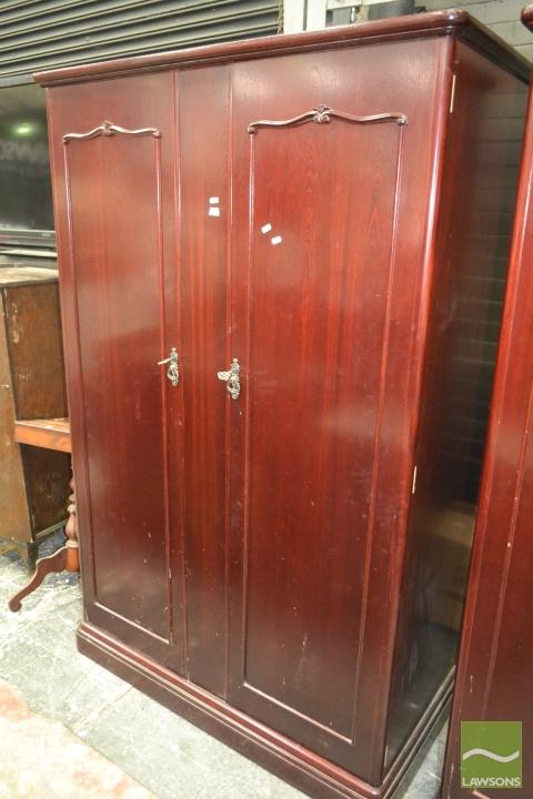Mahogany Wardrobe Fitted with Drawers