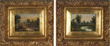 Alfred William Eustace (1820 - 1907) (2 works) - Untitled (Landscapes) 7 x 10.5 cm (each)