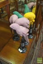 Collection of Eleven Birds on Stand