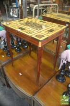 Inlaid Lift Top Music Table