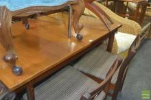 White and Newton of Portsmouth Teak Table and Four Chairs