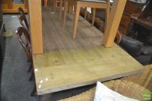 Large Timber Dining Table over Baluster Legs