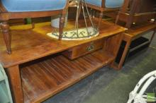 Rustic Kitchen Island with Single Drawer