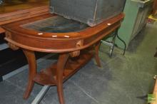 Timber and Glass Hall Table
