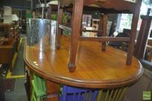 Oval Oak Dining Table On Castors