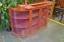 Large Bow Front Display Cabinet
