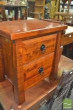 Two Drawer Bedside Cabinet