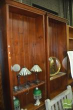 Pair Of Large Open Bookcase
