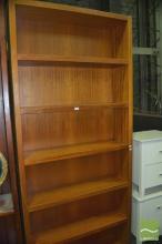 Pair of Tall Timber Open Bookshelves