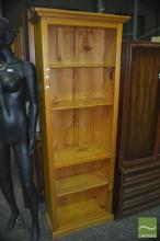 Pine Open Bookshelf