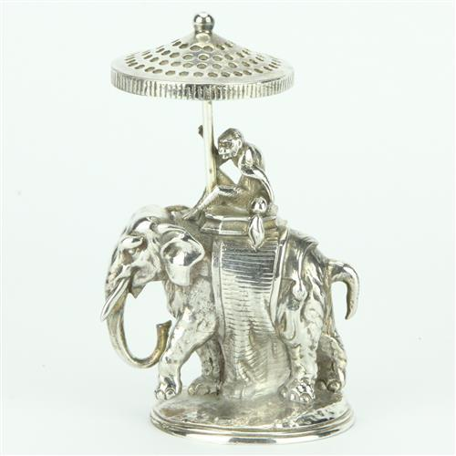 Christofle Elephant Toothpick Holder