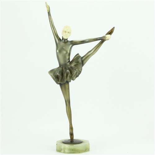 Chryselephantine Figure of a Ballerina on Point