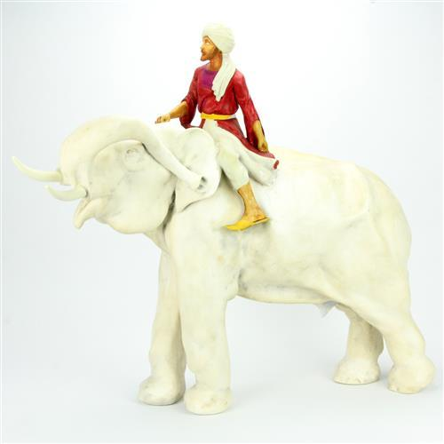 Earthen Ware Elephant & Rider