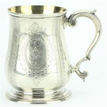 English Hallmarked Sterling Silver George II Tankard