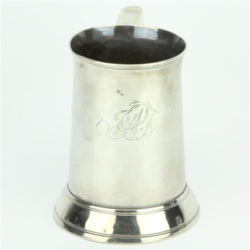 English Hallmarked Sterling Silver George II Tankard