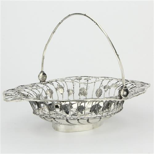 English Hallmarked Sterling Silver George III Bread Basket by Arthur Annesley