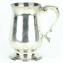 English Hallmarked Sterling Silver George III Tankard