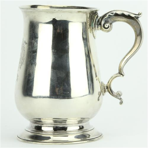 English Hallmarked Sterling Silver George III Tankard