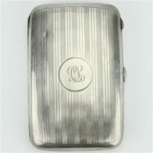 English Hallmarked Sterling Silver George V Cigar Case